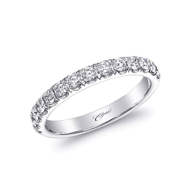 Diamond Fishtail Set Diamond Wedding Band