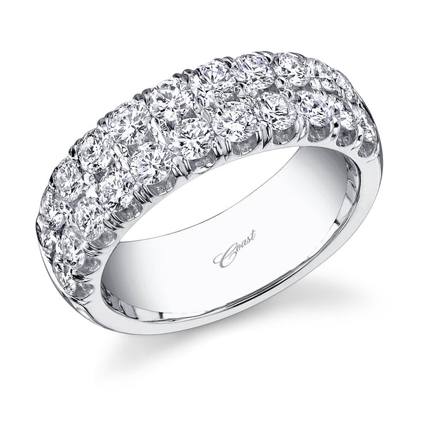 Two Rows Wedding Band