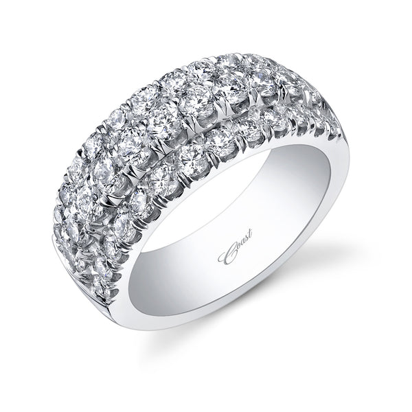 Three-Row Diamond Band