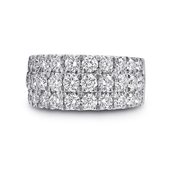 Charisma Collection Ring With Three Rows Of Diamonds