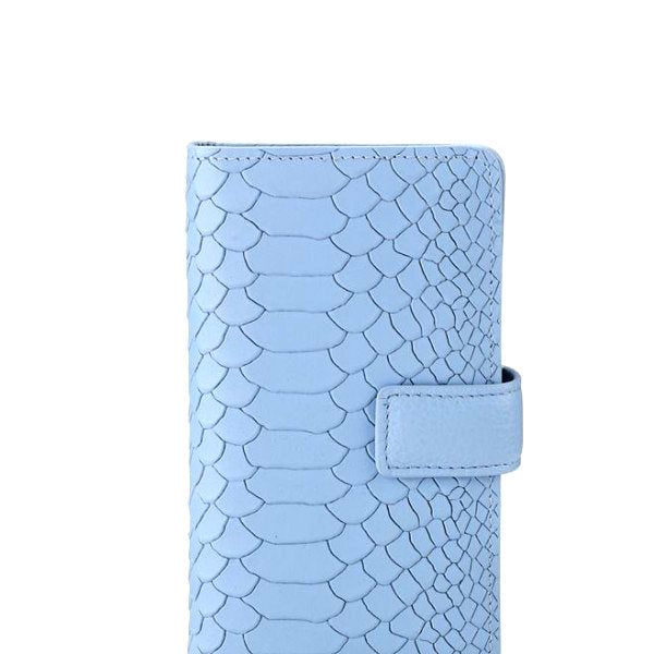 iPhone 6 Wallet Case Hydrangea Embossed Python