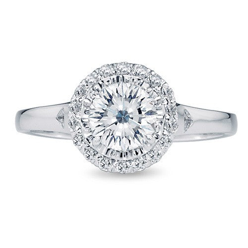 Crisscut Diamond Engagement Ring 4