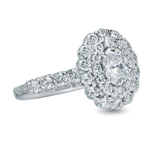 Crisscut Diamond Engagement Ring 2