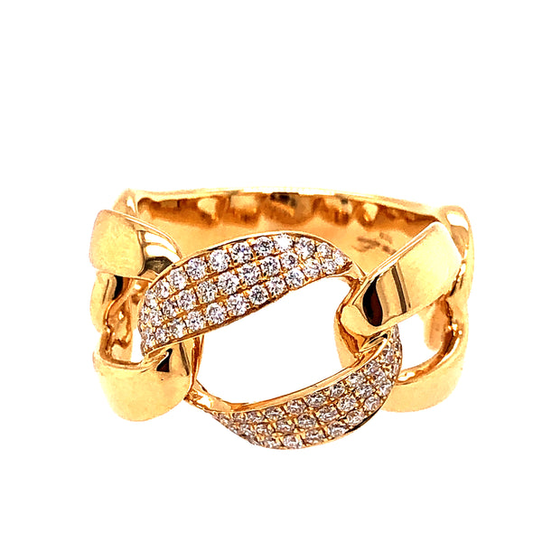 PRETZEL RING, WITH DIAMONDS, 18KT YELLOW GOLD