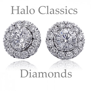 Halo Diamond Custom Earrings