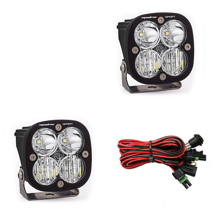 Baja Designs Squadron Sport, Pair Driving/ Combo LED Clear