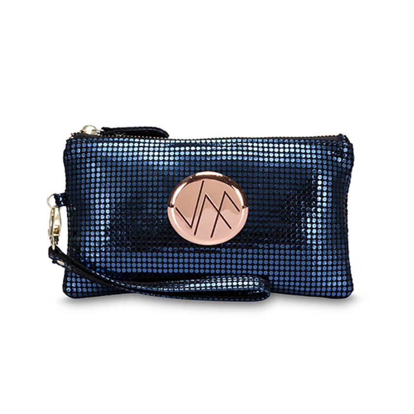 ZILYA NAVY GENUINE LEATHER CLUTCH
