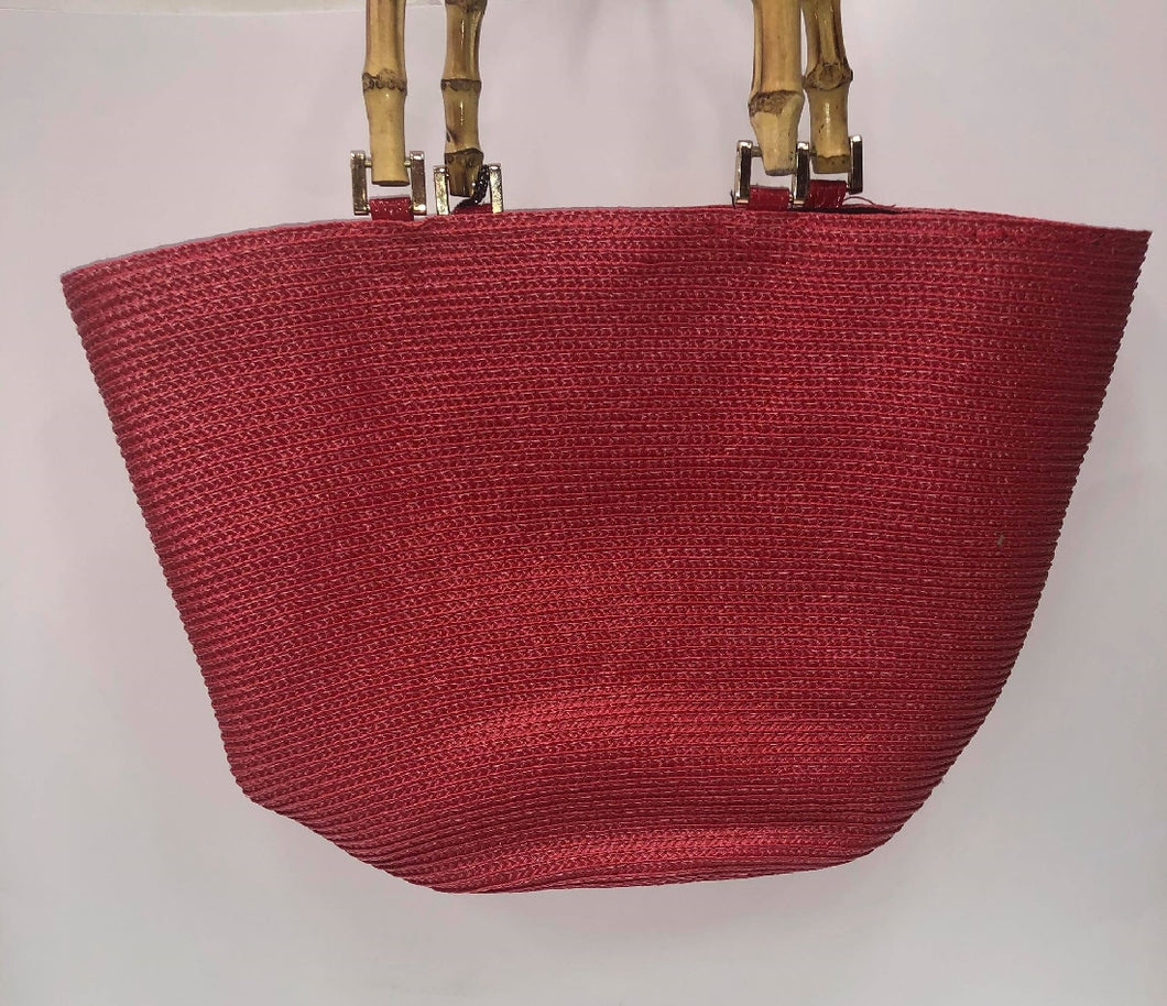 CAMILLA RED BEACH BAG