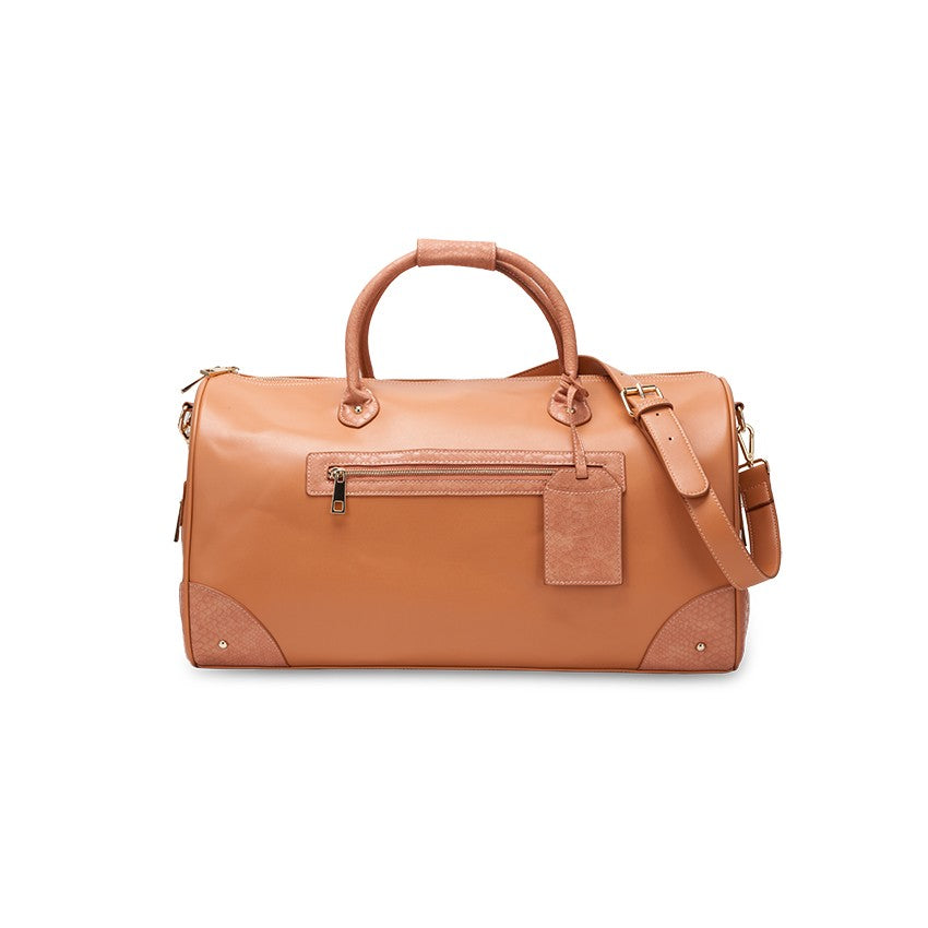 ANZIO DESTINATION LEATHER DUFFEL