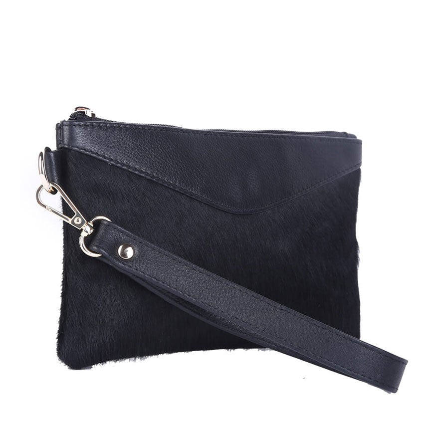 MORRISSON BLACK SADDLE & STYLE CLUTCH
