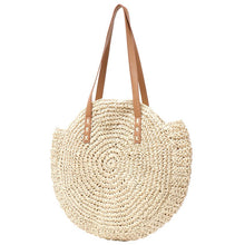Load image into Gallery viewer, LOVELY CREAM ROUND SUMMER BEACH BAG