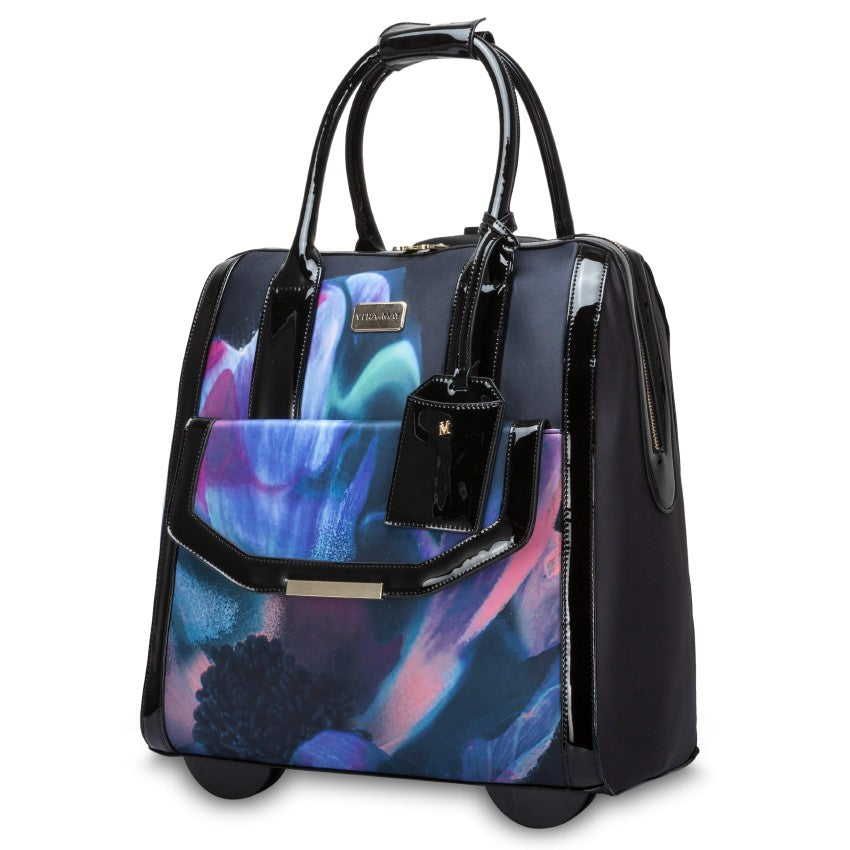 MONACO FLORAL WEEKEND OVERNIGHT TROLLEY BAG