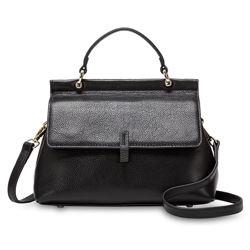 TENRIFE BLACK GENUINE LEATHER HANDBAG