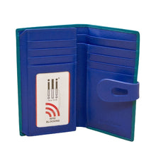 Load image into Gallery viewer, AQUA/COBALT RFID MEDIUM WALLET