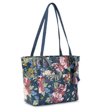 Load image into Gallery viewer, DENIM FLOWER METRO SATCHEL