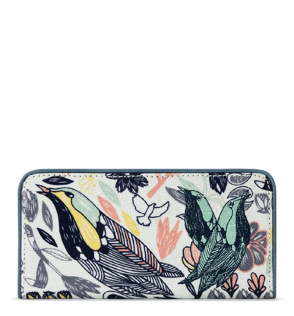 MULTI PEACE BIRDS SLIM WALLET