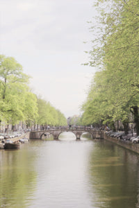 Canal in Amsterdam boats trees wall decor art photography