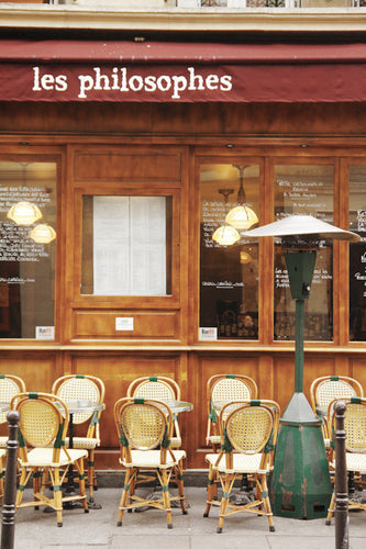 les philosophes cafe in the 4th arrondissement Marais paris france sidewalk tables