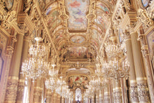 Load image into Gallery viewer,  the grand foyer at the opera garnier, paris france. chandeliers