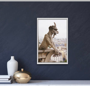 cathedral of Notre Dame de Paris Chimera Gargoyle rooftops photography wall art