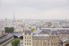 Load image into Gallery viewer, view from the towers of Notre Dame Paris France Skyline Eiffel Tower Les Invalides wall art photography