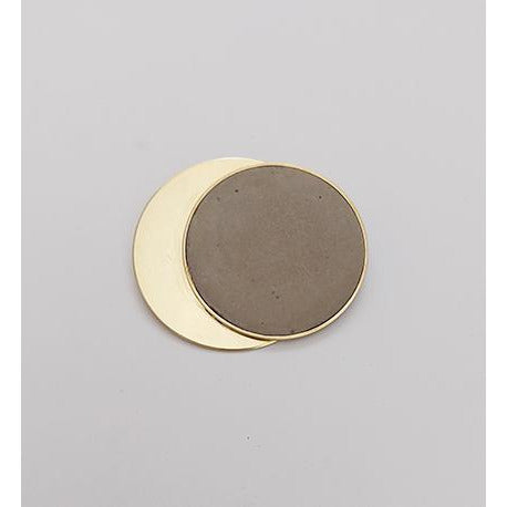 Large Brass + Concrete Brooch