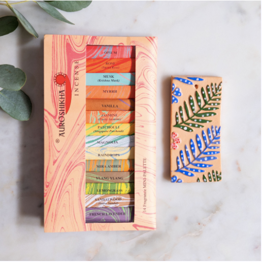 Marbled Incense Stick Palette Selection With 14 Fragrances