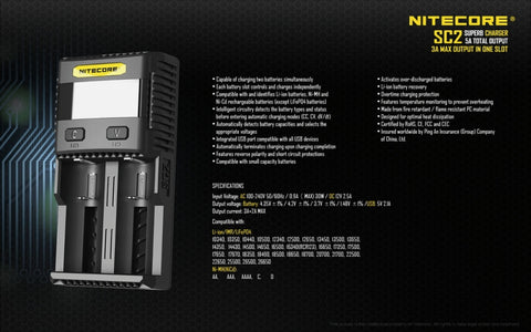 Nitecore SC2 Superb Battery Charger