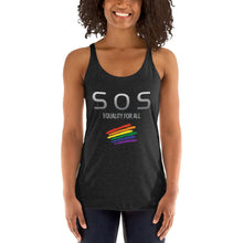 Load image into Gallery viewer, EQUALITY FOR ALL-Women's Racerback Tank - SOS Attire