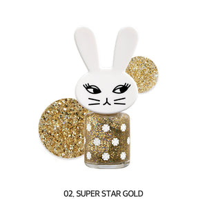 [02. SUPER STAR GOLD] Happy ShuShu Day Water-based Nail