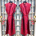 Load image into Gallery viewer, 1950s Vintage Cheongsam Qipao Damask Dress