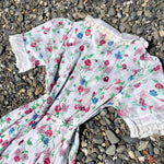 Load image into Gallery viewer, 1930s Vintage Semi-Sheer Cotton Floral & Butterfly Dress