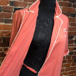Load image into Gallery viewer, 1940s Vintage Pink Peach Fine Wool Dress/Dressing Gown