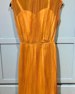 1950s Ginger Spice Accordion Dress
