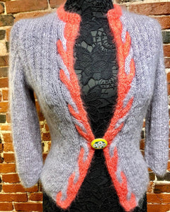 Vintage Mohair Hand Knit Sweater