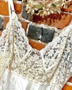 1930s-1940s ~Heavenly Silk lingerie by Fischer~ Pure Silk Lace Beauty