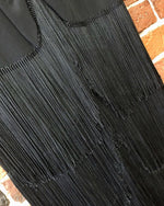 Load image into Gallery viewer, 1940s ART DECO Style Rayon Fringe Dress