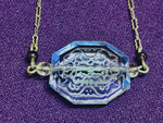 Load image into Gallery viewer, 1930s ART DECO Sky Blue Faceted Glass Necklace