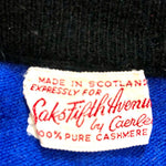 Load image into Gallery viewer, 1960s ~100% Pure Cashmere ~SAKS FIFTH AVENUE by Caerlee~ Made in Scotland Cardigan Sweater
