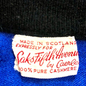 1960s ~100% Pure Cashmere ~SAKS FIFTH AVENUE by Caerlee~ Made in Scotland Cardigan Sweater