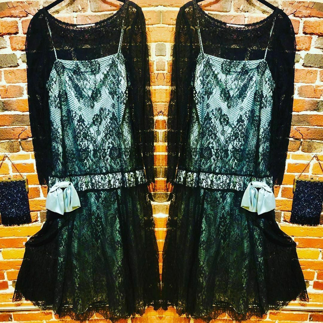 Vintage Lace Dress with Satin Slip - does 1920s