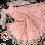 Load image into Gallery viewer, 1950s Vintage Pink Lace Dress/Gown