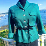 "Load image into Gallery viewer, 1950s ""THE PIPER"" STYLED BY H&E SHAPIRO Linen Blazer/Jacket"