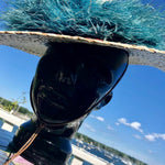 Load image into Gallery viewer, Antique Hand-Painted Hat with Ostrich Feathers