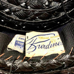 "Load image into Gallery viewer, 1930s Vintage ""Burdines"" Straw Hat from ""Sunshine Fashions"""