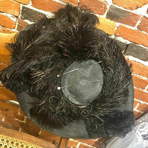 1940s BONWIT TELLER Hat with Ostrich Feathers