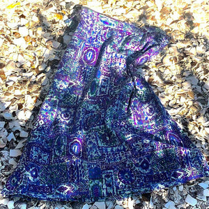 1950s Vintage Cotton Novelty Print Skirt