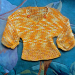 Load image into Gallery viewer, 1950s Vintage Hand Crochet Sweater