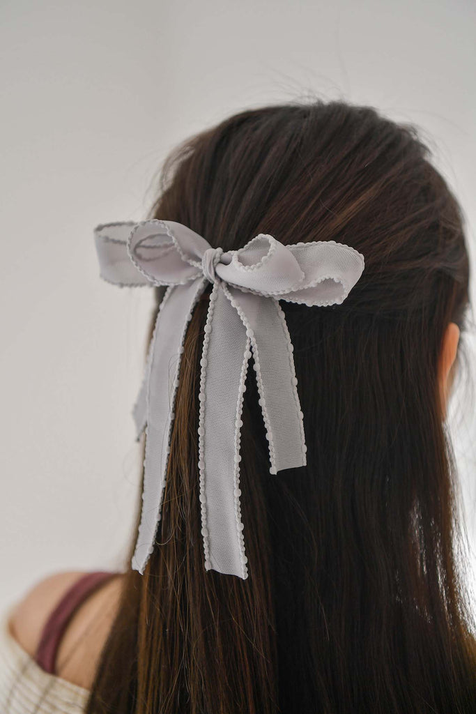 sweat talk ribbon hair clip