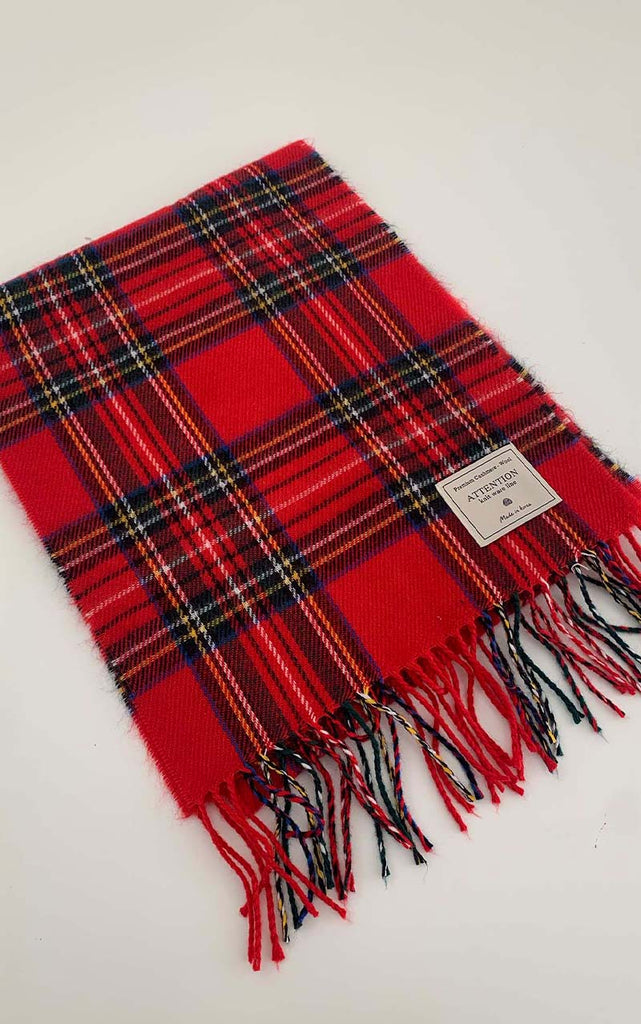 make a wish checked scarf